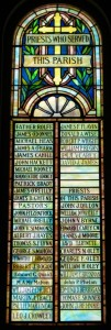 Priests Who Served Parish Window